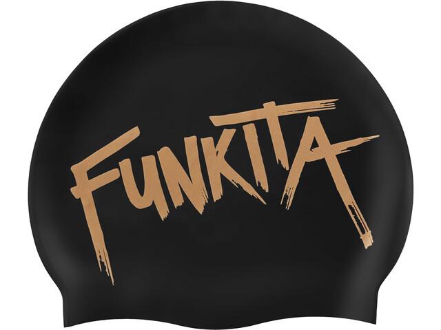 Funkita Silicone Swimming Cap 10 Pieces Women, bronzed